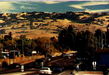 Lafferty Ranch and Sonoma Mountain as seen from Petaluma