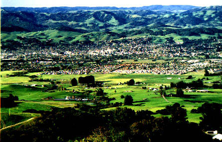 View of Petaluma from Lafferty Ranch.  Photo by Scott Hess.